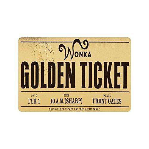 [Fashional Machine-washable Willy Wonka Golden Ticket Chocolate Bar 3 Decorative Doormat Indoor/Outdoor Doormat 23.6