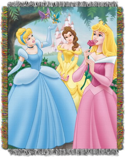 Disney Princesses Walk in the Park 48-Inch-by-60-Inch Acrylic Tapestry Throw by The Northwest CompanyB000223I6Y