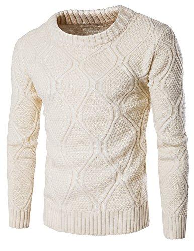LIANIHK Inverno Uomo Moda Pullover lavorato a maglia con collo sciallato Caldo