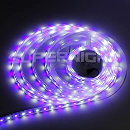 SUPERNIGHT 16.4 Flexible RGBW Silicone Tube IP67 Waterproof LED Strip Light RGB+ White Color Mixed 5050 SMD DC12V Outdoor Strip