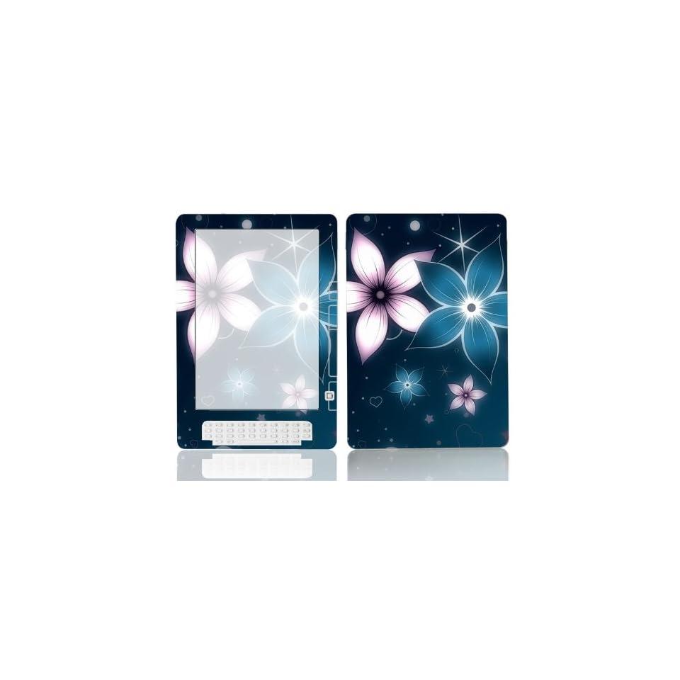 Bundle Monster  Kindle DX Ebook Vinyl Skin Cover Art Decal Sticker Protector Accessories   Blue Plumeria