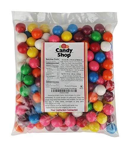 Candy Shop Assorted 8 Color 1 Inch Gumballs (3 Pounds)