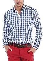 RNT23 Camisa Hombre (Azul Marino / Blanco)