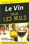 Le Vin pour les Nuls par McCarthy