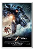 Pacific Rim Go Big Or Go Extinct Poster Silver Framed - 96.5 x 66 cms (Approx 38 x 26 inches)