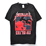 (メタリカ) Metallica KILL'EM ALL Tシャツ へヴィメタ ロックT バンドT ヒップホップ ロゴT 正規品 本物 フェス (L, BLACK) [並行輸入品]
