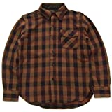 (デラックスウエア) DeluxeWare HV-17 THIRDING SHIRT/チェック ワークシャツ サイズL FLAME ORANGE