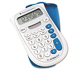 Texas Instruments Ti-1706Sv Handheld Pocket Calculator, 8-Digit Lcd, Case of 2