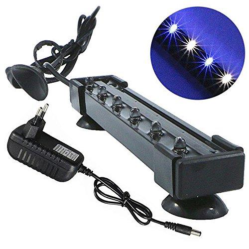 Mingdak-LED-Aquarium-Licht-Kit-fr-Aquarium-Unterwasser-Tauchkristallglas-Leuchten-geeignet-fr-Salzwasser-und-Swasser-6-Leds-65-Zoll-Beleuchtungsfarbe-wei-und-Blau
