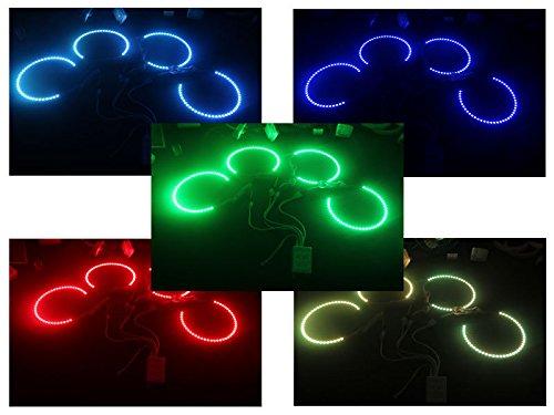 Deltalip 16 Colors 4PCS 42 SMD LED RGB Angel Eyes Halo Rings BMW E39 E46 3 5 7 Series