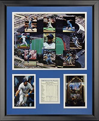"Legends Never Die 1985 Kansas City Royals - Mosaic Framed Photo Collage Ne, 16"" x 20"""