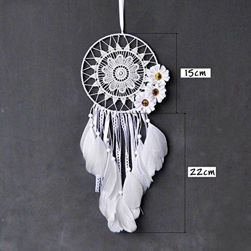 Eastlion Dreamcatcher Sunflwer Lace Dream Catcher Feathers Home Hanging Decoration