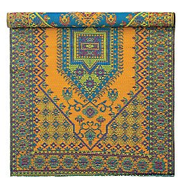 Gaiam Turkish Pattern Reversible All-Weather Floor Mat, 6x9, Aqua
