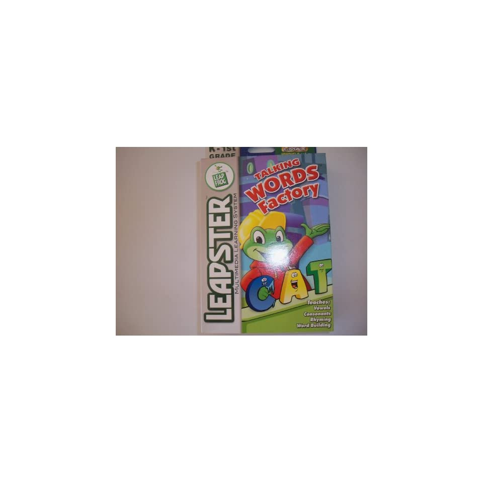 Leap Frog Leapster Talking Words Factory Game Cartridge