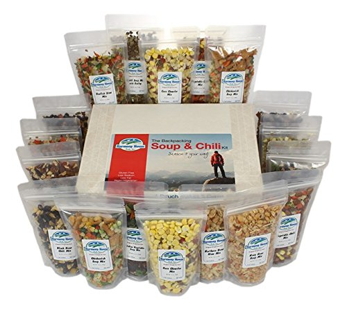 Harmony House Foods, Backpacking Soup & Chili Kit, 1 Cup Zip Pouches (Harmony House Backpacking Kit compare prices)