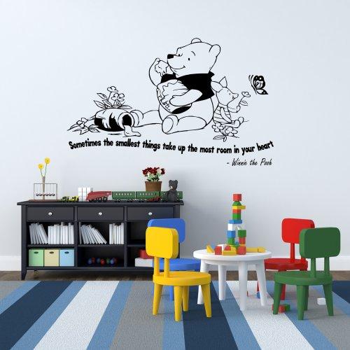 Winnie The Pooh Kids Nursery Wall Sticker Quote Bedroom Inspiring Vinyl Decal 5 front-735840