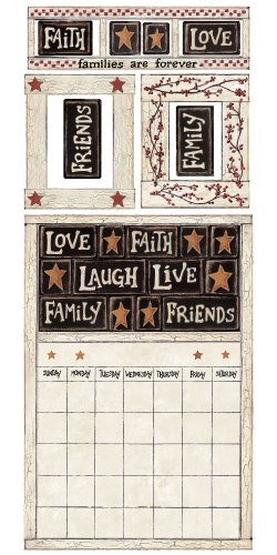 Roommates Rmk2148Gm Family And Friends Peel And Stick Dry Erase Calendar front-1077148