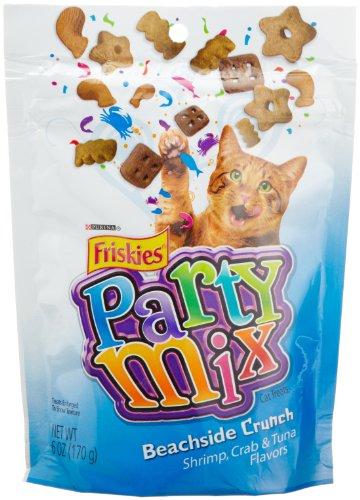 Friskies Party Mix, Beachside Crunch Cat Treats,