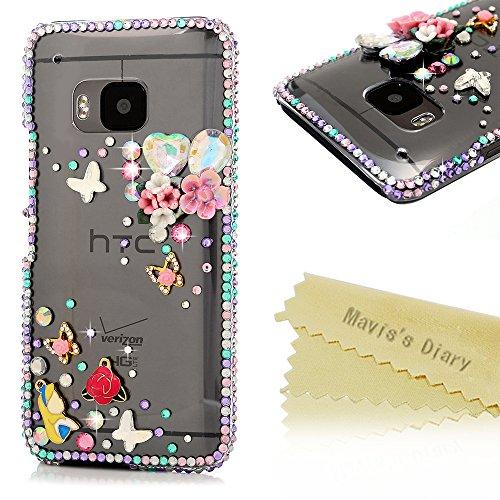 maviss-diary-htc-one-m9-case-3d-handmade-bling-crystal-pink-flowers-rose-shiny-diamond-butterflies-s
