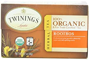 Twinings Rooibos Organic, 20-Count Tea Bags (Pack of 6 )