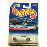 Hot Wheels - 1998 First Editions - Ford GT-90 - White - Die Cast - #14 Of 40 Cars - Collector #668 -