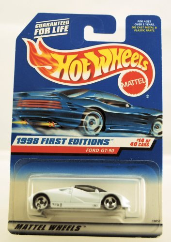 Hot Wheels - 1998 First Editions - Ford GT-90 - White - Die Cast - #14 of 40 Cars - Collector #668 - Limited Edition - Collectible