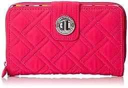 Vera Bradley Turnlock Wallet, Fuchsia, One Size