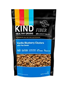 KIND Healthy Grains Clusters, Vanilla Blueberry with Flax Seeds, 11-Ounce Bags (Pack of 3) FFP