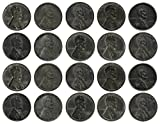 1943 Various Mint Marks Count of 20 Genuine World War II WWII Steel Pennies P, D & S Mint Marks All Grade Better Than Fine