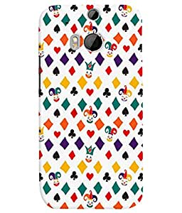 TOUCHNER (TN) Cards Symbols Back Case Cover for HTC One M8::HTC M8
