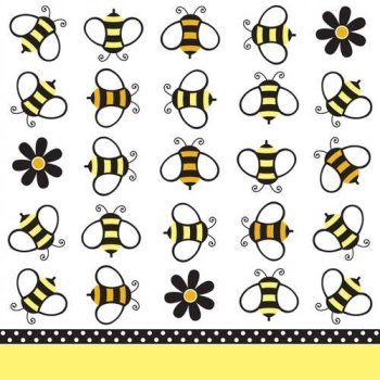 Buzz Bumble Bee Beverage Napkins Birthday Party Shower Supplies (18)