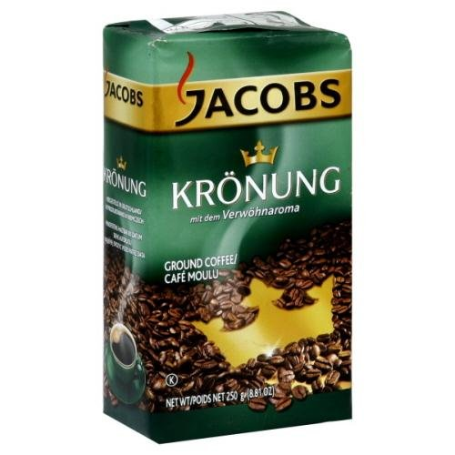 Jacobs Kronung Ground Coffee, 8.81-Ounce (Pack Of 12)