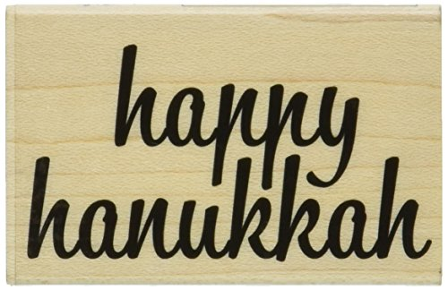 "Hero Arts Happy Hanukkah Mounted Rubber Stamp, 2"" by 2"""