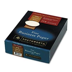 "Fine Business Paper, 24 lb., 8-1/2""x11"", 500/BX, Natural, Sold as 1 Box"