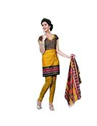 Siddhi Unstitched Cotton Printed Salwar Suit Dupatta Material ( AYSLW-101220141029AA )