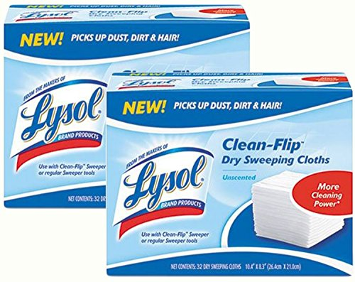 lysol-clean-flip-dry-sweeping-cloth-unscented-32-count-pack-of-2
