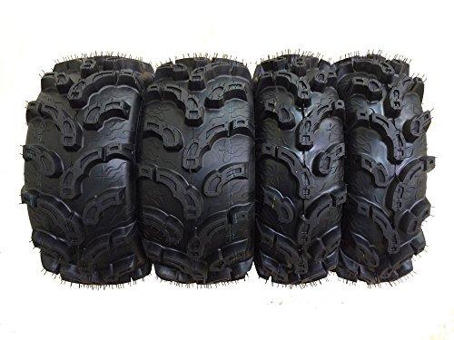 Set of 4 New Premium WANDA ATV/UTV Tires 25x8-12 Front & 25x10-12 Rear /6PR P375 10212/10215 (Atv Rims And Mud Tires Set compare prices)