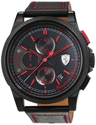Scuderia Ferrari OROLOGI Hombre Reloj de pulsera Formula Italia S analógico de cuarzo piel 0830273