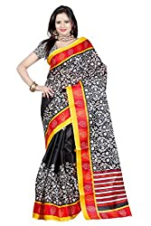 RGR Enterprice Woman's Bhagalpuri Designer Saree (KANISHKA BHAGALPURI_Multi-Coloured_Free Size)