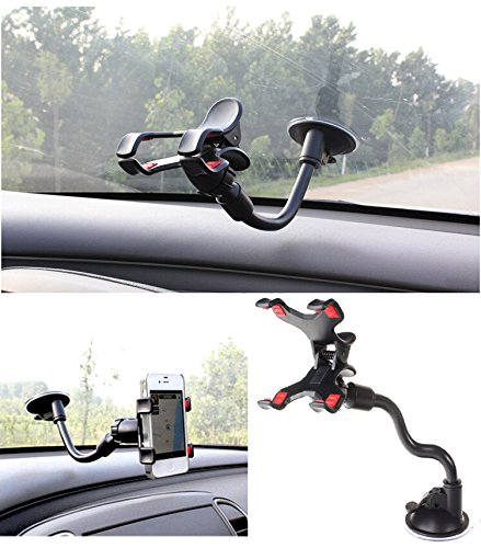 Gtopin(Tm) Universal Car Mount Holder For Iphone 6/6 Plus/5S/5C/5/4S/4 , Ipod Touch, Samsung Galaxy S5/S4/S3 Car Mount, Samsung Galaxy Note 4/3/2 Car Mount, Car Holder For Lg G3/G2/G Flex/Pro 2/Optimus/Nexus, Car Mount For Htc One M8/M7/Mini/Max/One X, So