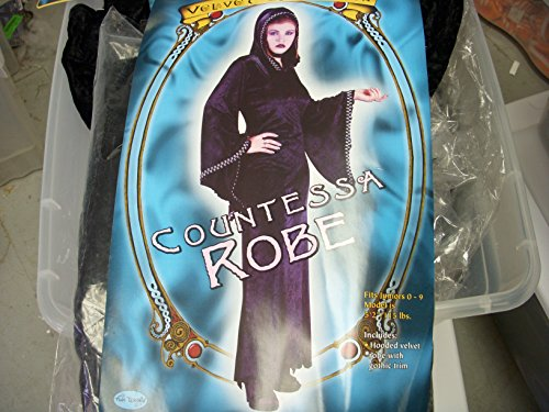 Adult Gothic Countessa Witch Costume NWT Teen 0-9