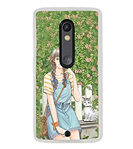ifasho Girl in park Back Case Cover for Moto G3