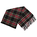 Womens/Ladies Tartan Check Winter Scarf
