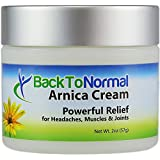 Back To Normal Arthritis and Joint Relief Cream, 2 oz. Superior Pain Relief Cream. Less Painful Days, More Restful Nights.