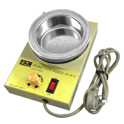 Amico AC 220V 380W Temperature Adjustable Stainless Steel Solder Pot 100mm