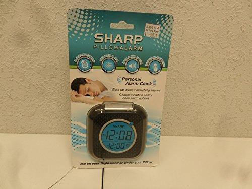 Sharp Vibrating Pillow Alarm Clock - Black Home Garden Decor Clocks Clocks Portable Clocks