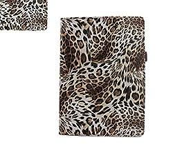SANOXY Slim FOLIO Folder PU Leather Stand Case for iPad Air / iPad 5 /5th Generation/ IPAD AIR 2 (LEOPARD BROWN FOLIO)