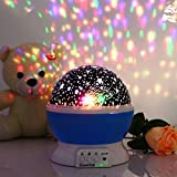 Essential Choice – Galaxy Constellation Projector Night Light – 4 Bright Colours with 360 Degree Moon Star Projection and Rotation – Kids Baby Bedroom and Nursery Lamp – Great Gift Idea