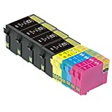 TS 10-PK T252XL Remanufactured compatible ink cartridges for EPSON 252 T252 T254 (4 BLACK , 2 YELLOW, 2 MAGENTA, 2 CYAN) WorkForce WF-3620, WorkForce WF-3640, WorkForce WF-7610, WorkForce WF-7620