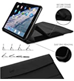 ZooGue iPad mini 4 Case Genius Exec - iPad case with stand - Drop protection - Sleep wake cover function - Super secure adjustable kickstand - 4th Generation iPad mini - Black